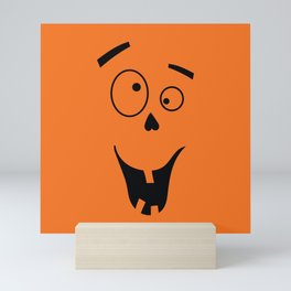 Funny Halloween Face Mini Art Print