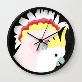 Cockatoos by Mount Vic and Me Wall Clock