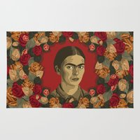 frida Area & Throw Rugs featuring FRIDA by badOdds
