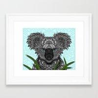 koala Framed Art Prints featuring Koala by ArtLovePassion