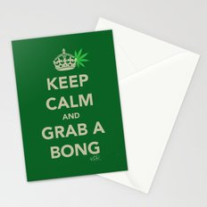 Keep calm and grab a bong Stationery Cards
