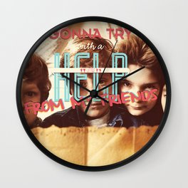 With A Little Help From My Friends Wall Clock