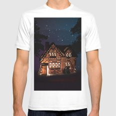 C1.3D PAPERSHOPPE BY NIGHT MEDIUM White Mens Fitted Tee