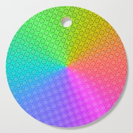 d20 Prismatic Spray Critical Hit Pattern Cutting Board