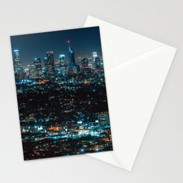 Los Angeles Skyline By Night United States Ultra HD Stationery Cards