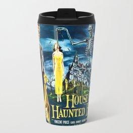 House on Haunted Hill, vintage horror movie poster Travel Mug