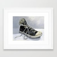 chuck Framed Art Prints featuring Chuck by Zoe Elizabeth