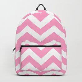 Carnation pink - pink color - Zigzag Chevron Pattern Backpack