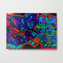 Graffiti Downtown ATL Metal Print