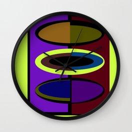 Artsy Ovals - Or Surfboards? Wall Clock