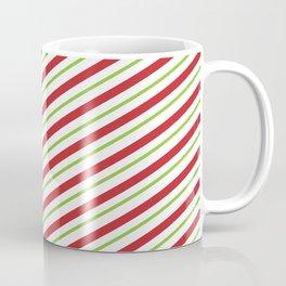 Christmas Striped Green Red Pattern Coffee Mug