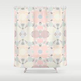 Pastel Neapolitan Circle Pattern Shower Curtain