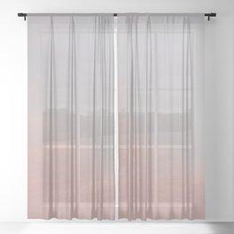 Heart Centered Sky Sheer Curtain
