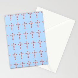 Christian cross and heart Stationery Cards
