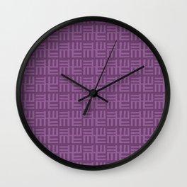 Purple African Boho Ethnic Pattern Wall Clock
