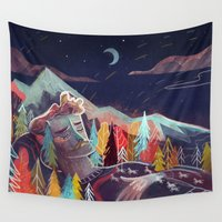 sleep Wall Tapestries featuring Sleep by Karl James Mountford
