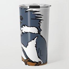 Belted King Fisher Illustration Travel Mug