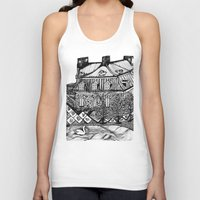 copenhagen Tank Tops featuring Copenhagen by intermittentdreamscapes