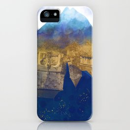 City Under Water - Blue Ocean Theme No. 1 iPhone Case
