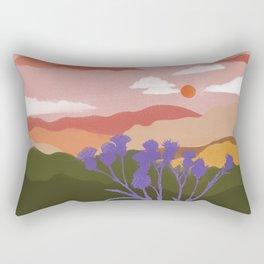 Artichoke Thistle Sunset Rectangular Pillow