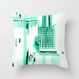 B_map Throw Pillow