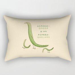 Asparagoose & Her Asparagoslings Rectangular Pillow
