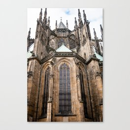 Rear Facade, St. Vitus Cathedral, Prague Canvas Print