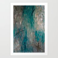 swimming Art Prints featuring Swimming by Kellie Morley