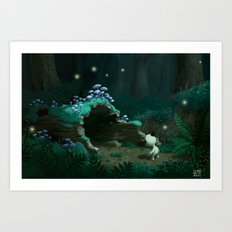 Hollow Log Art Print