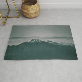Landscape Italian Snow Mountain Photography Rug