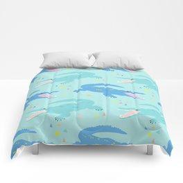 Nile Crocodile Rock Comforters