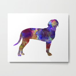Austrian Black and Tan Hound in watercolor Metal Print