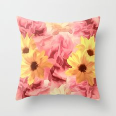 Summer Day Floral  Throw Pillow