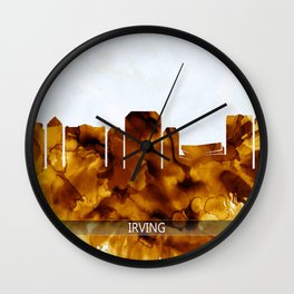 Irving Texas Skyline Wall Clock