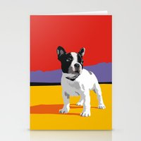boston terrier Stationery Cards featuring Boston terrier by Matt Mawson