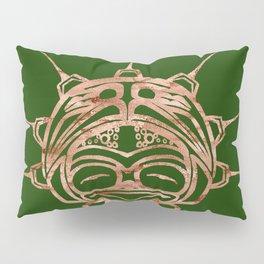 Copper Frog Grass Pillow Sham