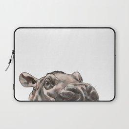 Peeking Baby Hippo Laptop Sleeve