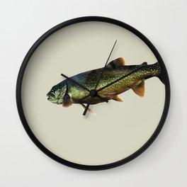 Trout on Beige Wall Clock