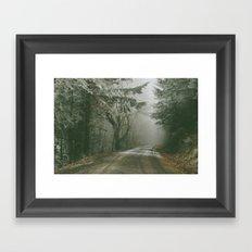 Foggy Road Framed Art Print