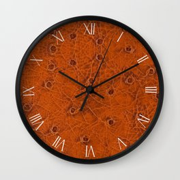 Rusty spotted leather sheet imitation texture Wall Clock