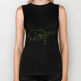 sign language P Biker Tank