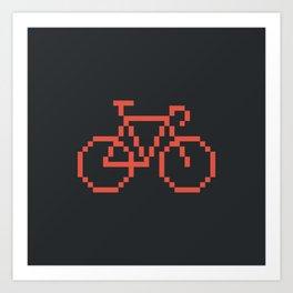 Pixelbike Art Print