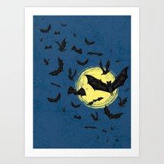 Bat Swarm Art Print