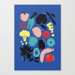 Eat more fruit and veggies Canvas Print