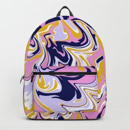 pink, navy & gold marble Backpack