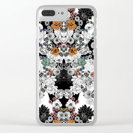 Simple Flowers Clear iPhone Case