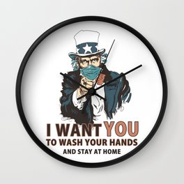 Wash Your Hands! Wall Clock