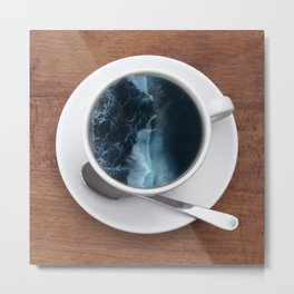 A Cup Of Sea! Metal Print