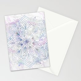 Marble Mandala - Purple Blue Rose Gold Stationery Cards
