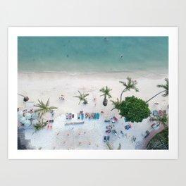 Aerial Koh Phangan Beach Art Print